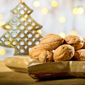 Wallnuts with Christmas tree
