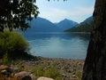 Wallowa lake oregon scenic is located in western Stock Image