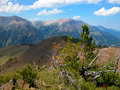 Wallowa mountains oregon the beautiful are located in eastern and viewed from a ridge top upon mt howard Royalty Free Stock Image