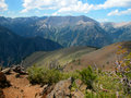 Wallowa mountains oregon the beautiful are located in eastern and viewed from a ridge top upon mt howard Stock Photography