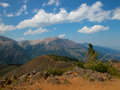 Wallowa mountains oregon the beautiful are located in eastern and viewed from a ridge top upon mt howard Stock Photos