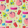Wallpaper with colored gifts Royalty Free Stock Photo