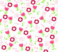 Wallpaper with flower ornaments