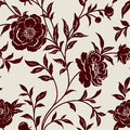 Wallpaper with flowers seamless pattern peonies and leaves Stock Images