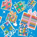 Wallpaper with gift boxes Royalty Free Stock Photo