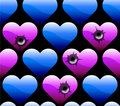 Wallpaper of hearts Stock Image