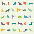 Wallpaper for kids room. multicolored cats