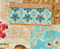 Wallpaper layers fragment of fabric Royalty Free Stock Photo