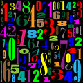 Wallpaper with numbers black Royalty Free Stock Photo