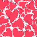 Wallpaper With Red Hearts