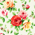 Wallpaper with roses beautiful seamless pattern flowers Royalty Free Stock Photos