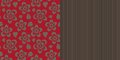 Wallpaper seamless pattern fashion design vector two patterns for making interior illustration Stock Images