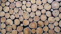 Wallpaper of wood logs stacking up Stock Photography