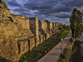 Walls of arab fortress in merida mérida november alcazaba near guadiana river mérida spain region extremadura built by emir Royalty Free Stock Image