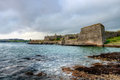 Walls and bastions of Charles Fort.Kinsale-Ireland Royalty Free Stock Photo
