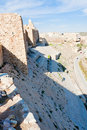 Walls of  crusader castle Kerak, Jordan Royalty Free Stock Photography