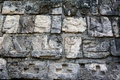 Walls details of a stone surface in an ancient May Royalty Free Stock Photos