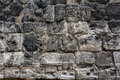 Walls details of a stone surface in an ancient May Royalty Free Stock Images
