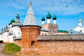 Walls and dome of famous rostov kremlin in russia the Royalty Free Stock Image