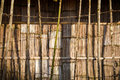 Walls and fences made of bamboo Royalty Free Stock Photography