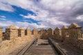 Walls of fortress, Avila, Spain Royalty Free Stock Photo