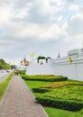 The walls of the Grand Palace, Bangkok, Thailand Royalty Free Stock Photo