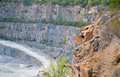 The walls of the granite quarry Royalty Free Stock Photo