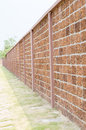 Walls made of laterite stone texture Royalty Free Stock Photos
