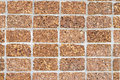 Walls made of laterite stone texture background Royalty Free Stock Photos