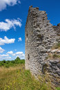 Walls of a medieval church in gotland sweden on the island Stock Photos