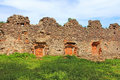 Walls of medieval Uzhhorod Castle, Ukraine Royalty Free Stock Photo