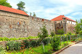 Walls and medieval Uzhhorod Castle in Ukraine Royalty Free Stock Photo