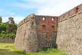 Walls of medieval Uzhhorod Castle in Ukraine Royalty Free Stock Photo