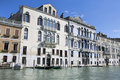 Walls of palaces on Grand Canal in Venice Royalty Free Stock Image