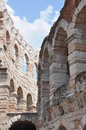 The walls of the roman amphitheater arena di verona italy Royalty Free Stock Images