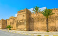 The walls of sfax old medina boasts great medieval defensive complex stone ramparts and numerous towers tunisia Stock Photo