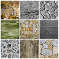 Walls and surfaces collage Stock Photos