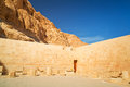 Walls of the temple of queen hatshepsut in egypt Stock Image