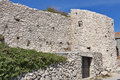 Walls of Vrbnik, Croatia Stock Photos
