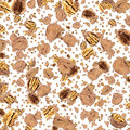 Walnut background (on white) Stock Images