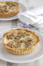 Walnut and blue cheese quiche Stock Images