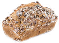 Walnut Bread (isolated on white) Royalty Free Stock Photo