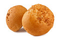 Walnut bun freshly baked buns covered with Royalty Free Stock Photos