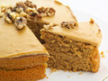 Walnut cake Stock Photography