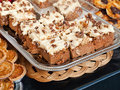 Walnut carrot cake Royalty Free Stock Image