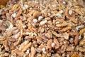 Cracked walnuts cores Royalty Free Stock Photo