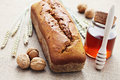Walnut and honey bread Royalty Free Stock Images