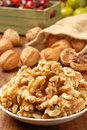 Walnut kernel Stock Image