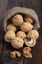 Walnut and kernels Royalty Free Stock Photo