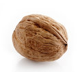Walnut macro on a white background Stock Photo